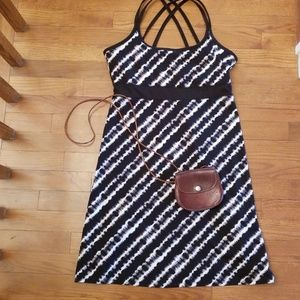 Soybu Black And White Striped Dress